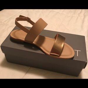 Loft size 8.5 gold nude sandals